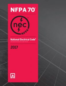 Qualified Electrical Worker Training NFPA 70 Red National Electrical Code 2017 booklet