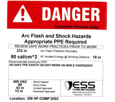 PPE Requirements Danger label