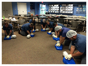 CPR/AED class in session