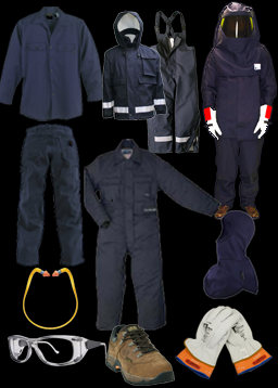 PPE requirements clothing examples including glasses, boots, gloves, and more