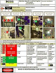lockout/tagout procedure sheet