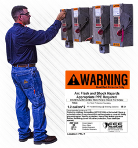 Arc flash warning labels are step three in arc flash risk assessment training.