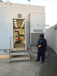 The Occupational Safety And Health Administration (OSHA) and NFPA70E require any person working on or near energized equipment greater than 50 volts to go through qualified electrical safety training.